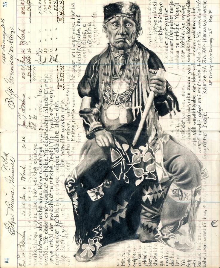 'Kanza/Osage' by Chris Pappan
