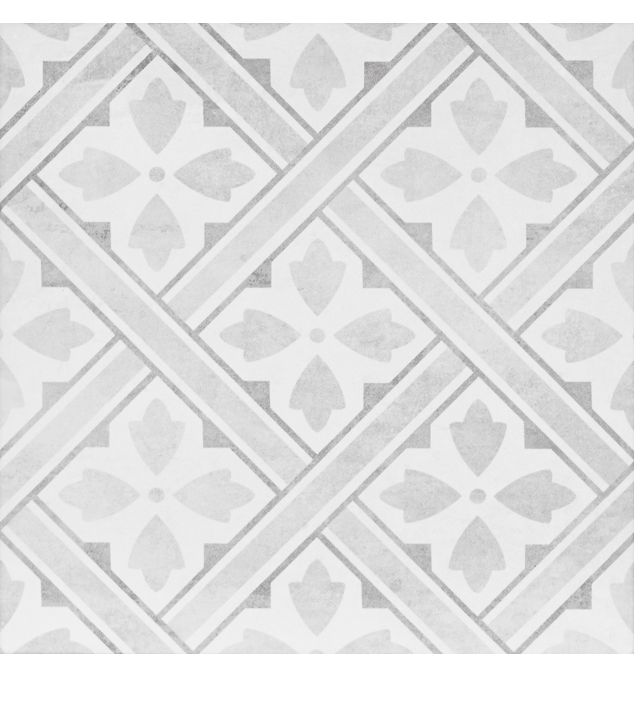 Inspired by the Laura Ashley Archive; this Mr. Jones ceramic tile from the Heritage Collection will bring timeless style to any room in your home. This square 331mm x 331mm grey tile was initially introduced in 1984. A classic floor tile design with historic influence Mr Jones fits comfortably with the current trends for geometric patterns.