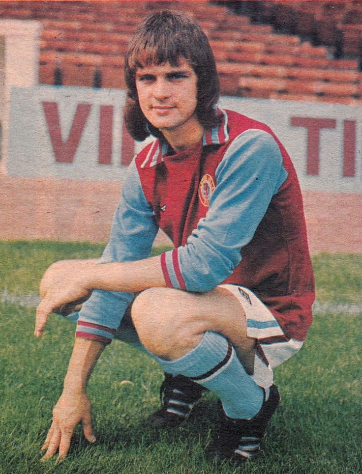 July 1975. Aston Villa wide man turned striker Brian Little.