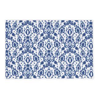 Damasco marroquí azul y blanco elegante del estilo tapete individual