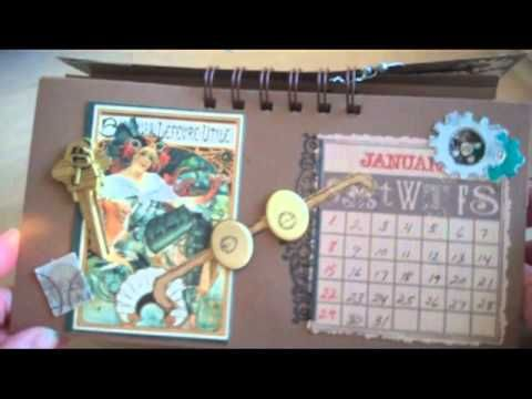 Hand Made Desk Calendar 2012 ~Video shows how to make desk calendars using stamps, papers and basic crafting supplies.