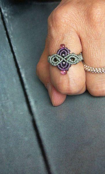 Ringe - ••• Ring Makramée macrame ••• - ein Designerstück von crochet bei DaWanda