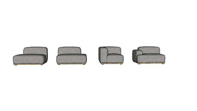 Large preview of 3D Model of Connect sofa system - Lounge (1) - by Muuto, designed by Anderssen & Voll
