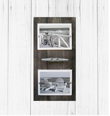 Double 5X7 Driftwood Cleat Frame by ProjectCottage on Etsy, $63.00 ...