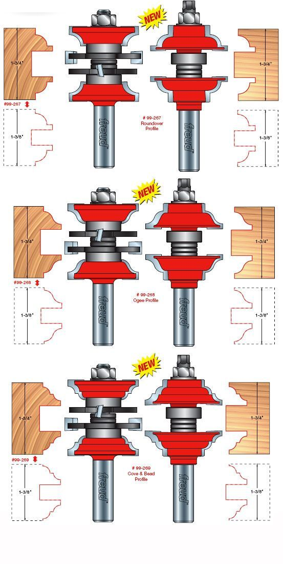 Freud Tools - Two Piece Entry & Interior Door Router Bit Set: