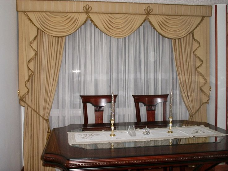 Beige Curtains Designs, Luxury Classic Curtains And Drapes For Dining Room  2015