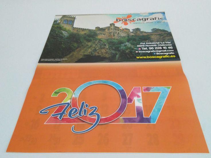 #CalendarioPared con faldilla y lámina personalizada. Con #Santoral  #CambiosHorarios y #FasesLunares