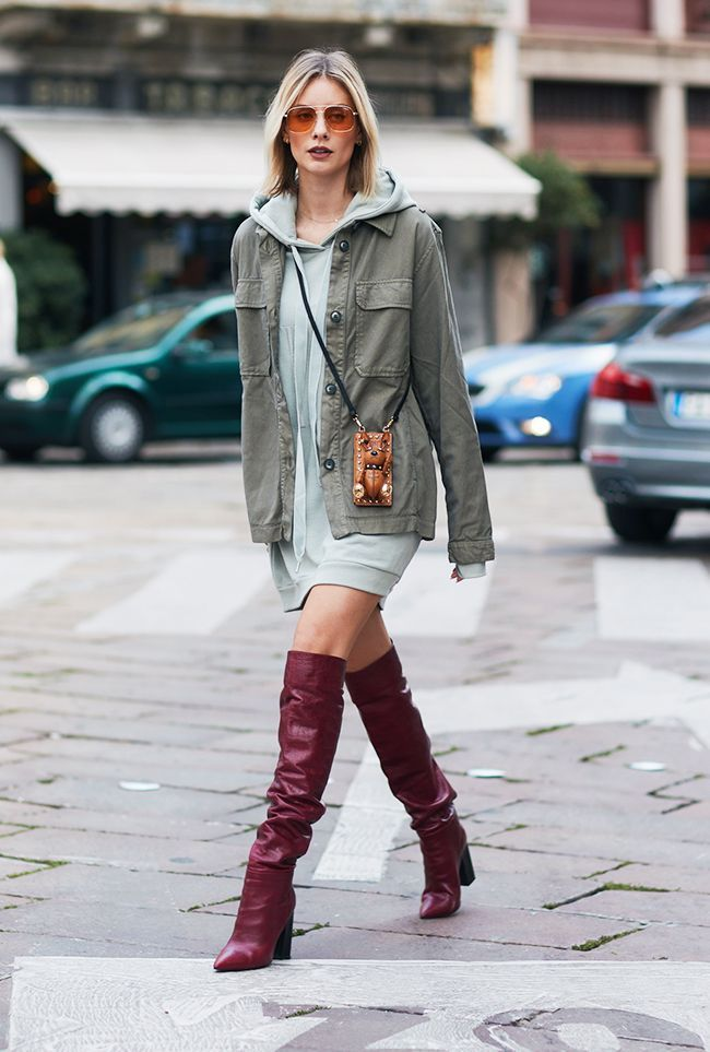 26c309f6a6bb 23 Street Style Looks That Highlight the Versatility Of Over-the-Knee Boots  via  WhoWhatWearUK