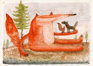 Robert Romanowicz illustration: Mysterious spirit of the forest