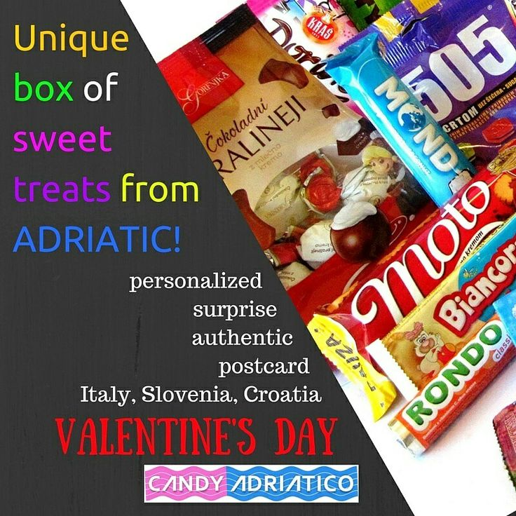 unique candy box directly from # italy # slovenia and # croatia ...