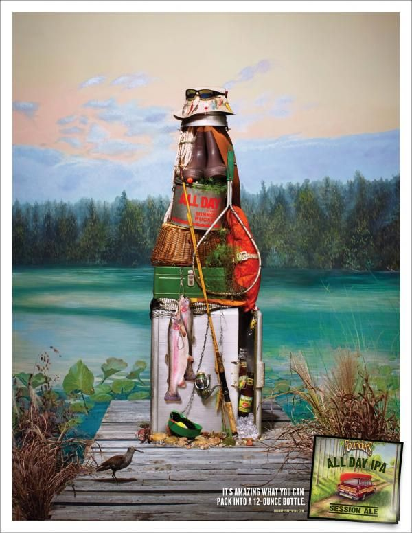 All Day Lake, Founders Brewing, Driven, Ferndale, Founders Brewing, Print, Outdoor, Ads