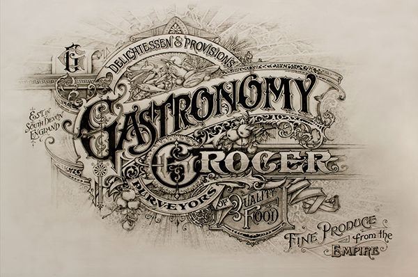 Gastronomy Grocer on Behance posters