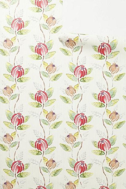 Painted Tulip Wallpaper