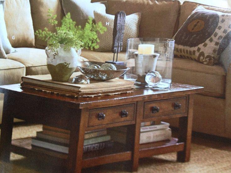 Coffee Table Decor Ideas unique small coffee table decor with rustic pot Coffee Table Decorating Ideas Coffee Table Decor Decorating Ideas