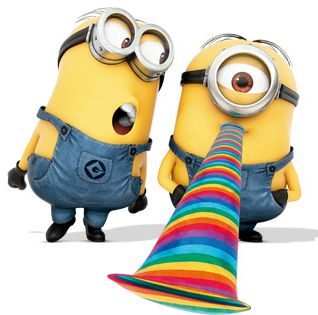 minions. Love that part after the movie ends - put on 3D glasses & enjoy!