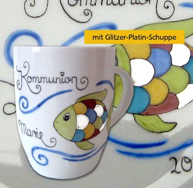 Porzellan+Kommunion-Konfirmation+Tasse+von+Porzellanmalstüberl+auf+DaWanda.com