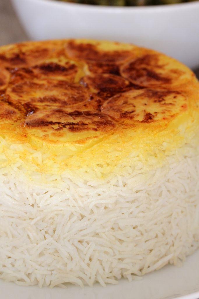 Essen auf den Tisch | Chelou – Persischer Reis (Siebreismethode) | http://essenaufdentisch.de