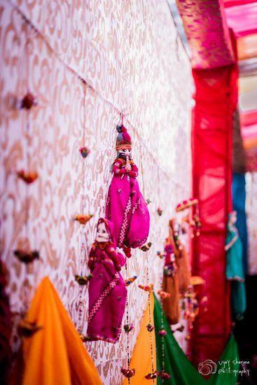 Mehendi Wedding Decor - Rajasthani Dolls for decor | WedMeGood #wedmegood #Mehendi #decor