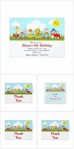 Birthday Party Set 16 - Animal Circus Train Kids