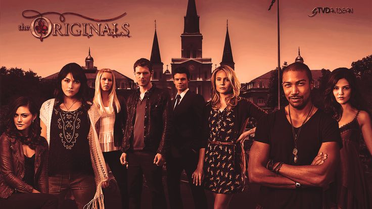 Hayley, Sophie, Rebekah, Klaus, Elijah, Cami, Marcel, and Davina