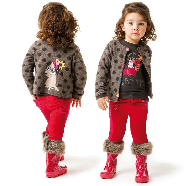 Catimini Girls Spotty Dog Sweater
