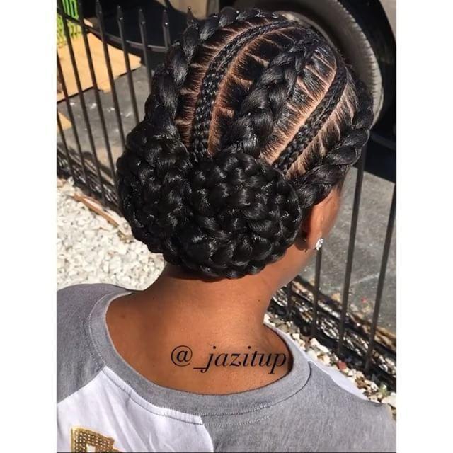Buuunnnnn Book As 4 Feed In Braids Jazituphair Jazitupbraids Natural Hair Styles African Braids Hairstyles Hair Styles