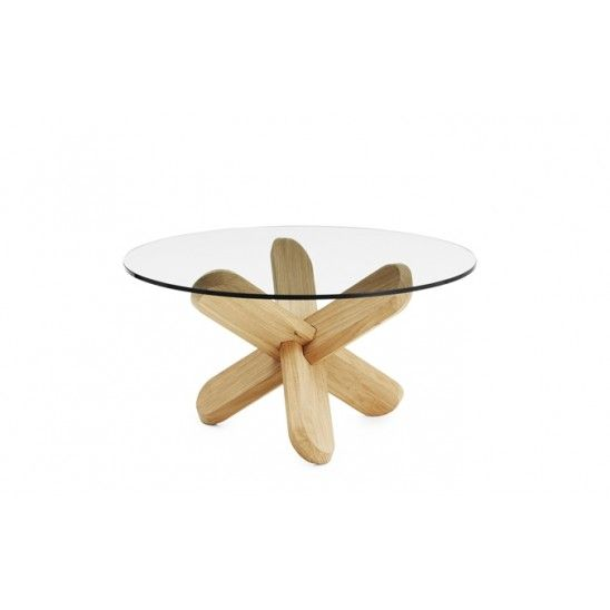 Ding #Coffee table in oak and glass created by Ding3000 for @normanncph .