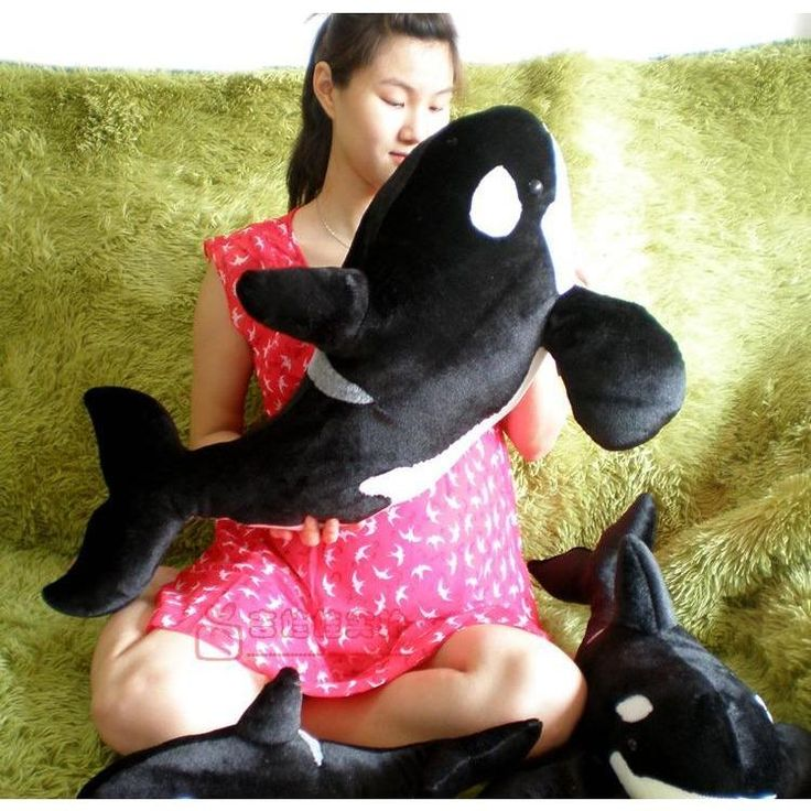 big size new simulation black killer whale plush toy gift about 80cm