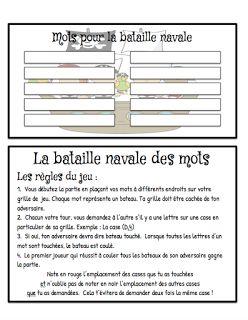 La bataille navale des mots Le cahier de Pénélope