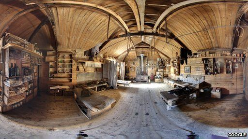 Images of the Antarctic huts used by polar explorers Sir Ernest Shackleton and Robert Falcon Scott have been posted online as part of the latest extension to Google's Maps service.