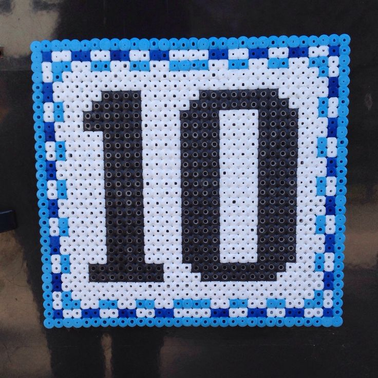 Hama bead Perler bead house number sign by mikagard