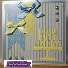 6x6 card made with Sara Signature Birthday Party Collection - designed by Debbie James #crafterscompanion
