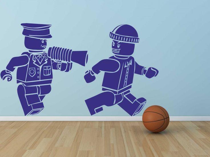 Muursticker Lego Politie & Boef | Muurstickers Kids | MUURSTICKERS /101WOONSTICKERS