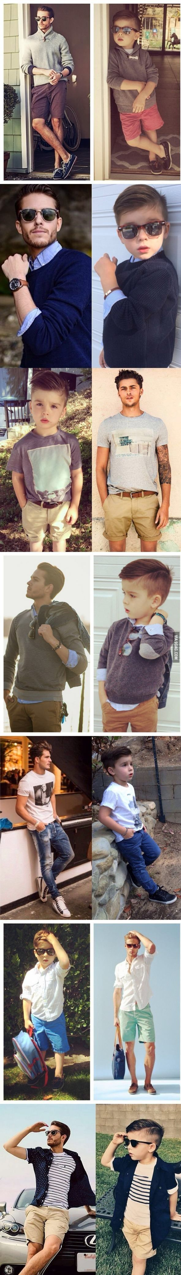 Baba Oğul Kombinleri / Daddy and Son Match #father #fashion #menfashion #mentrends #kids #kidsstyle #menstyle