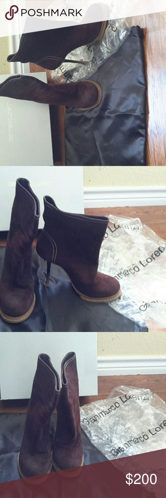 GIANMARCO LORENZI BROWN BOOT SZ. EU39 /US 8.5 THE BOOTS AR? IN VERY GOOD CONDITIONS USED TWO OR THREE TIMES Gianmarco Lorenzi  Shoes Ankle Boots & Booties