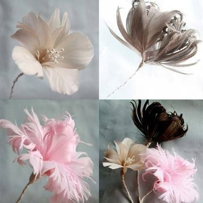 How to make three (3) styles of feather flowers tutorial