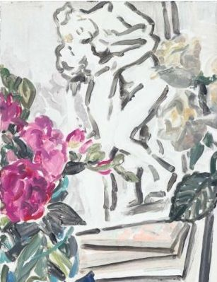 Elizabeth Peyton - Camille Claudel Flowers and Books