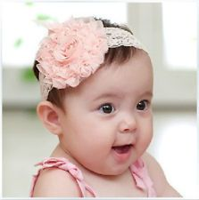 dribbleanddrool - Pink Rose with Pink Lace Style Headband, $4.00 (http://www.dribbleanddrool.com.au/pink-rose-with-pink-chiffon-headband/)
