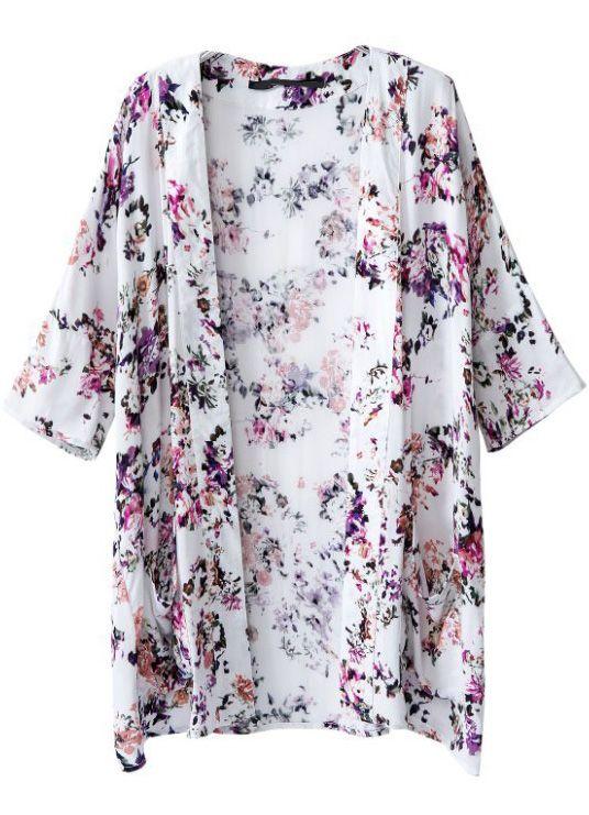 Shop White Half Sleeve Floral Pockets Kimono online. SheIn offers White Half Sleeve Floral Pockets Kimono & more to fit your fashionable needs.