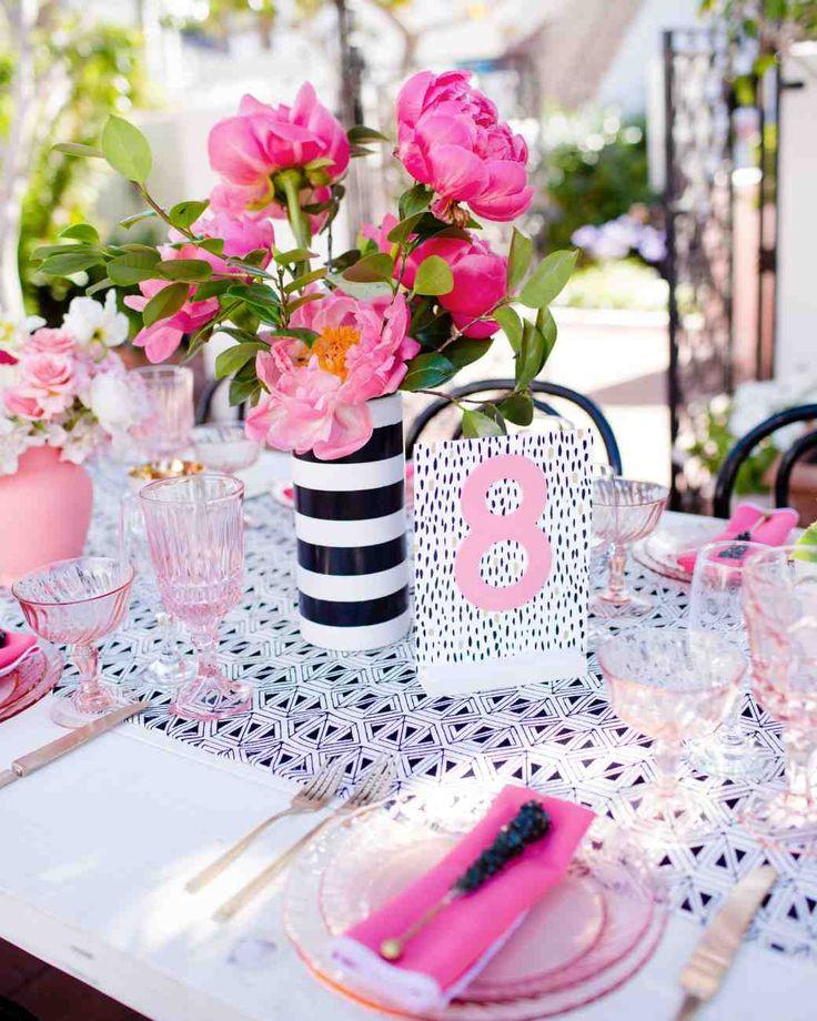 A Pink Kate Spade Inspired California Wedding Martha Stewart Weddings Blooming Peonies In