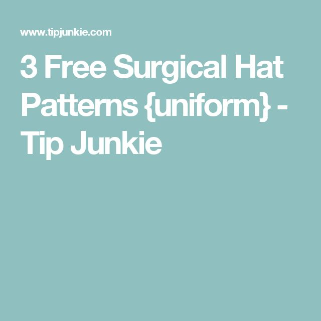 Dorable Scrub Cap Sewing Pattern Free Collection - Sewing Pattern ...