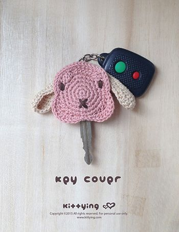 BunnyKey Cover Crochet Pattern by Crochet Pattern Kittying from Kittying.com / Mulu.us  This crochet pattern makes 6cm x 5.5cm end product.Adjust size by changing hook and yarn size. Accessory PATTERNS, Crochet PATTERNS, New Products, On Sale, Other PATTERNS. Tags: Accessories Pattern, animal crochet, Bunny Applique, bunny crochet pattern, bunny key cap, bunny key cover, bunny keycap, bunny keychain, bunny pattern, Crochet Pattern, key cover pattern, Other Pattern, pdf crochet pattern…