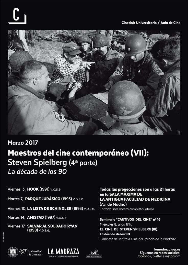 """Hoy, a las 17h, en #LaMadraza ,tendrá lugar el decimosexto seminario """"Cautivos del cine"""" titulado """"El cine de #StevenSpielberg (IV): la década de los 90"""". Será impartida por """"Juan de Dios Salas"""", director del Cine Club Universitario / Aula de Cine. Entrada libre hasta completar aforo. http://lamadraza.ugr.es/evento/el-cine-de-steven-spielberg-iv-la-decada-de-los-90/ #StevenSpielberg #SpielbergUGR #CautivosDelCine #MaestrosDelCineContemporáneoUGR"""