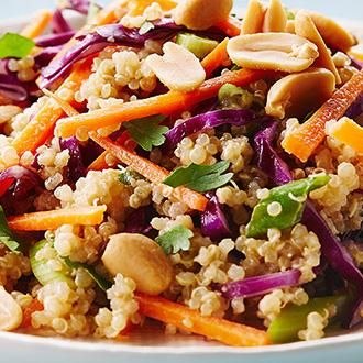 Thai Quinoa Salad--Cook With Campbells--Very, very bland. Made with spaghetti instead of couscous. Needs lots of spice added. Will not make again.