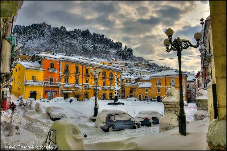 Popoli in Abruzzo, Italy.