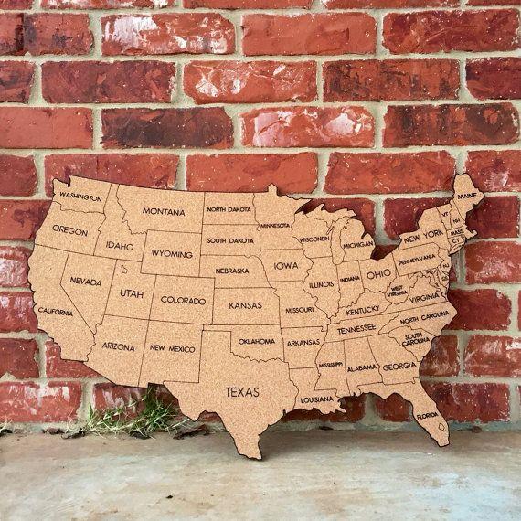 Unique Corkboard Map Ideas On Pinterest Chalkboards World - Corkboard us map