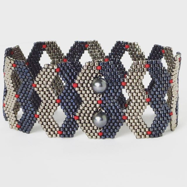 """""""More shaped peyote stitch exploration, with button clasp"""