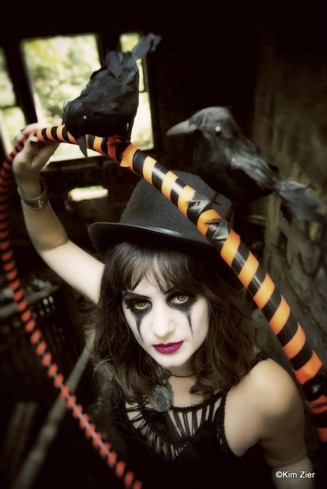 Made crow-covered hoop for a hoopingbysarah promo shoot with Kim Zier photography & Jessica Marazzo mua.