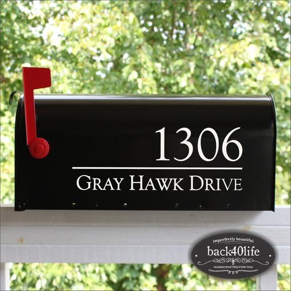 Back40life Mailbox Numbers Street Address Vinyl Decal Etsy Mailbox Numbers Mailbox Numbers Vinyl Mailbox Decals