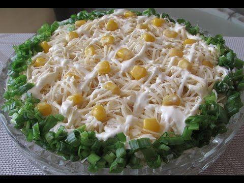 Салат с курицей и кукурузой - YouTube